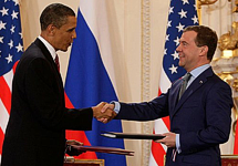New START Preliminary Thoughts in Moscow: Obama Medvedev Sign Prague Treaty 2010