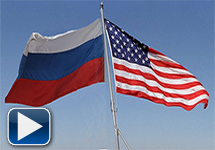 Russian and US Flags Video