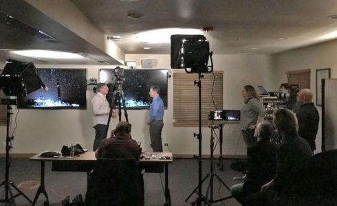 Richard Engel of NBC News interviews Jeffrey Lewis in Monterey.