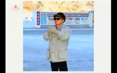 Still image broadcast from Kim Jong Il's December 2008 visit.
