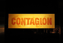 Set of Contagion mainly showing the pster